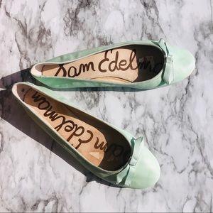 Sam Edelman Teal Leather Flats